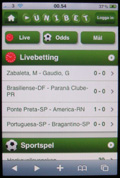 unibet mobilversion i iPhone